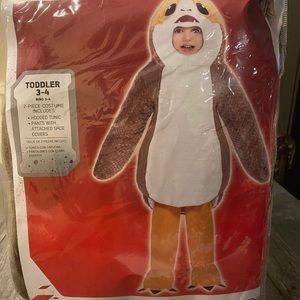 Star Wars porg toddler costume 3-4